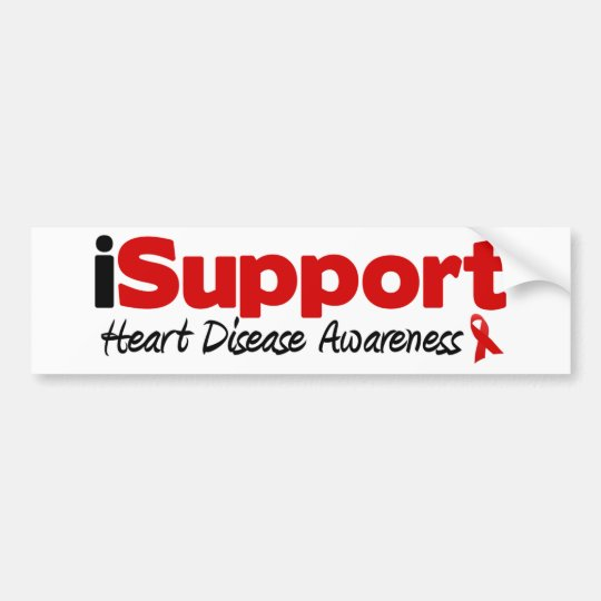 iSupport Heart Disease Bumper Sticker