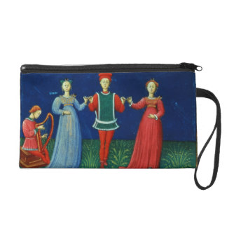 It 973 f.21v A Gentleman dancing with two Ladies, Wristlet