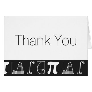 It Adds Up in Black Thank You Card