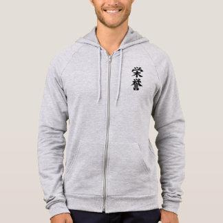 It agasalho with Wool - Honour of Samurai Hooded Sweatshirt