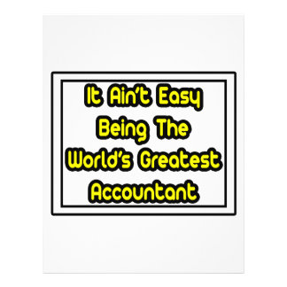 It Aint Easy World s Greatest Accountant Full Color Flyer