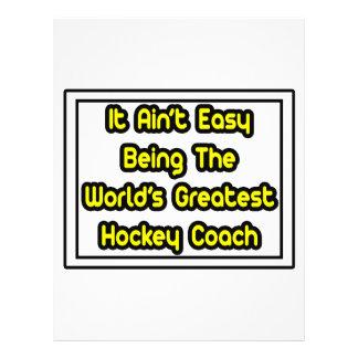 It Aint Easy World s Greatest Hockey Coach Flyer Design