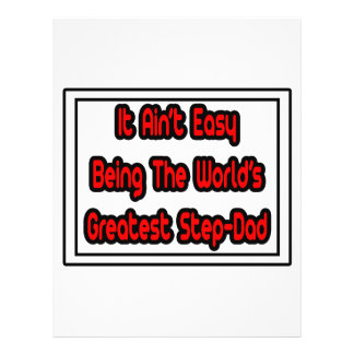 It Aint Easy World s Greatest Step-Dad Flyers