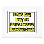 It Aint' Easy...World's Greatest Basketball Coach Personalised Announcement