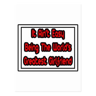 It Aint' Easy...World's Greatest Girlfriend Postcard
