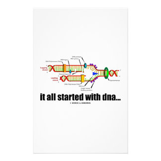 it all started with DNA.. (DNA Replication) Personalized Stationery