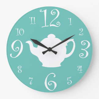 It Always Time for Tea in Our Kitchen Large Clock