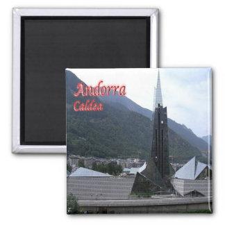 IT - Andorra - Chaldean - View of Balneario Square Magnet