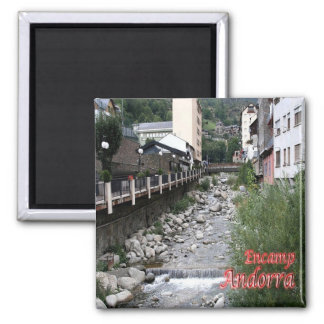 IT - Andorra - Encamp - River Valira Square Magnet