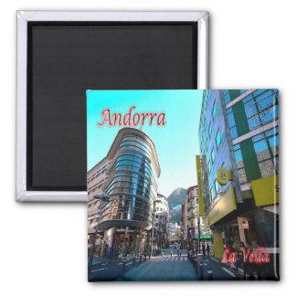 IT - Andorra - La Vella - Center Square Magnet