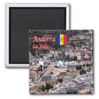 IT - Andorra - La Vella - Panorama Square Magnet