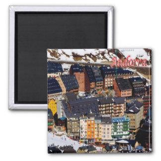 IT - Andorra - Panorama Square Magnet