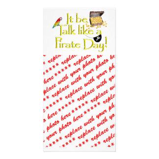 It Be Talk Like A Pirate Day! Custom Photo Card