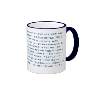It cannot be emphasized too strongly or too often coffee mug
