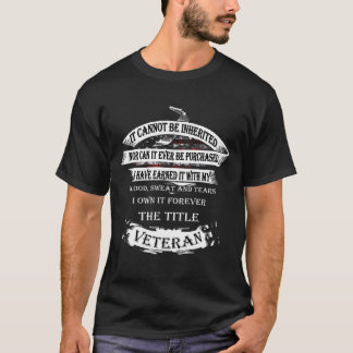 It cannot be inherited, the title Veteran T-Shirt