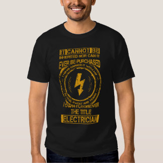 It cannot be inherited...title electrician t-shirts