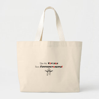 It does not have Victory without Commitment! Jumbo Tote Bag