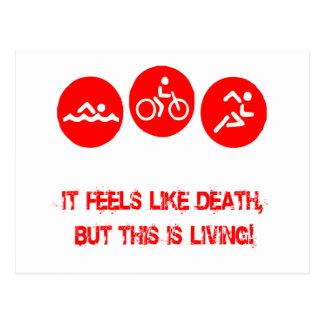 It feels like death - Triathlon Postcard