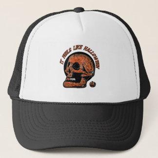 It Feels Like Halloween- Mini Pumpkin Trucker Hat