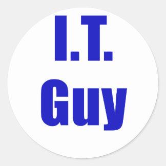 IT Guy Classic Round Sticker