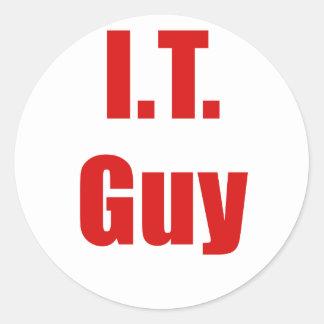 IT Guy Round Sticker