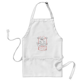 It has dinner with Cupid Standard Apron