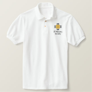 IT History Society golf shirt (CPU logo) Embroidered Shirt