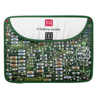 IT History Society laptop case (PCB logo) MacBook Pro Sleeve
