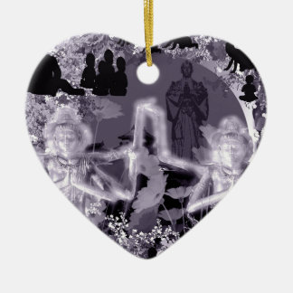 It is as for the firewood the ru ceramic heart decoration