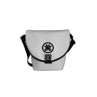 It is different to the circle, the arrow messenger bag
