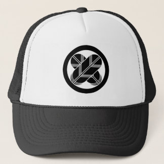 It is different to the circle, the feather (eight trucker hat