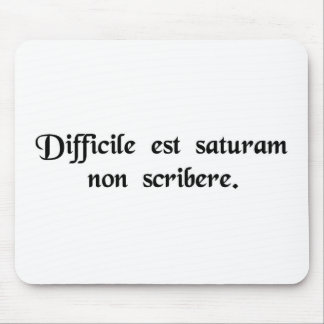 It is hard not to write satire. mousepads