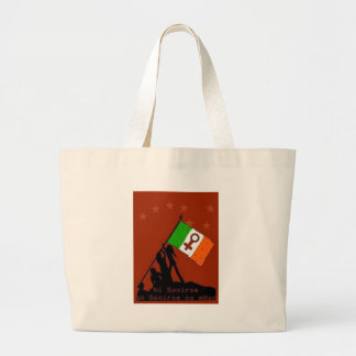 It is not freedom until women are free large tote bag