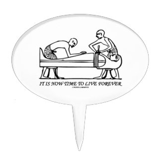 It Is Now Time To Live Forever Egyptian Embalming Cake Toppers