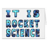 It Is Rocket Science In 3D Greeting Card