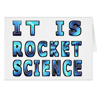 It Is Rocket Science In 3D Greeting Card
