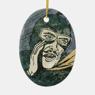 It is secret! ceramic oval decoration