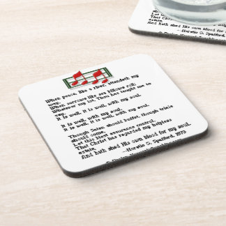 It Is Well With My Soul Hymn Drink Coaster