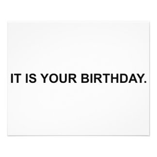 It Is Your Birthday 11.5 Cm X 14 Cm Flyer