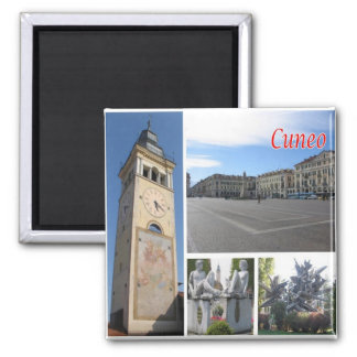 IT - Italy - Cuneo - Collage Mosaic Square Magnet