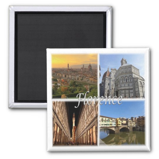 IT * Italy - Florence Italy Square Magnet