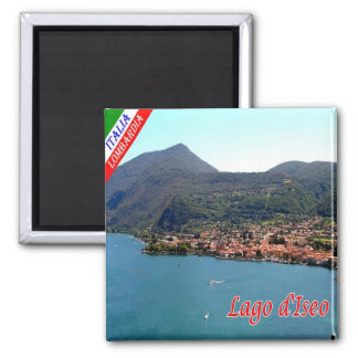 IT - Italy - Lake Iseo - Panorama Square Magnet