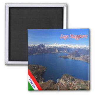 IT - Italy - Lake Maggiore - Panorama Square Magnet