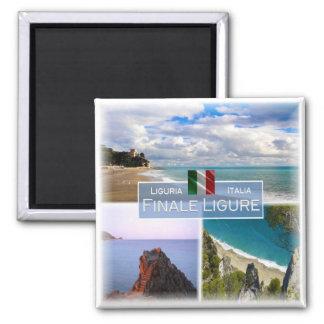 IT Italy # Liguria -   Finale Ligure - Square Magnet