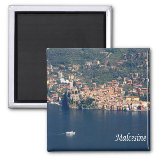 IT - Italy - Malcesine - Panorama Square Magnet