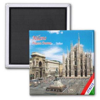 IT - Italy Milan Milano Piazza del Duomo Cathedral Magnet