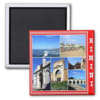 IT - Italy - Rimini - Collage Mosaic Square Magnet