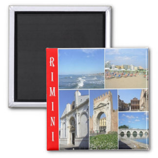 IT - Italy - Rimini - Collage Mosaic Square Magnet
