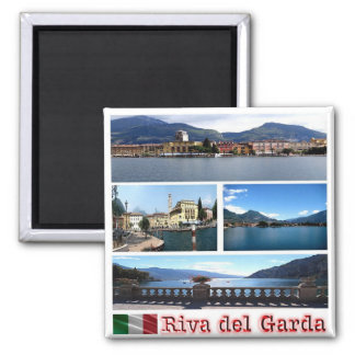IT - Italy - Riva del Garda - Mosaic - Collage Square Magnet