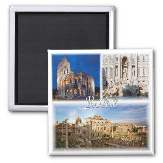 IT * Italy - Rome - Roma Italia Square Magnet